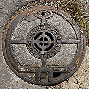 Maintenance manhole. Photographed in Belgrade, Serbia