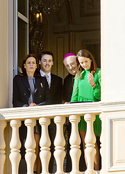 November 19, 2017 - Monte Carlo, MONACO - 19-11-2017 Monaco Princess Stephanie of Monaco and Pauline Ducruet and Louis Ducruet during the Monaco National Day Celebrations in Monaco...© PPE/NieboerCredit: PPE/face to face.- No rights for the Netherlands  (Credit Image: © face to face via ZUMA Press)