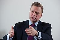 21 JAN 2010, BERLIN/GERMANY:<br /> Iaian Conn, Chief executive Refining and Marketing, Executive member of the BP board of directors, waehrend einem Interview, BP Buero Berlin<br /> IMAGE: 20100121-01-010