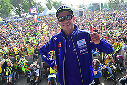 May 18, 2018 - Le Mans, Sarthe, France - 46 VALENTINO ROSSI (ITA) MOVISTAR YAMAHA MOTOGP (JPN) YAMAHA YZR M1 (Credit Image: © Panoramic via ZUMA Press)