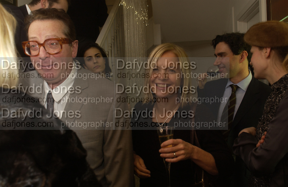 Lord Maurice Saatchi and Mariella Frostrup. Charles Finch and Dr. Franco Beretta host launch of Beretta stor at 36 St. James St. London. 10  January 2006. ONE TIME USE ONLY - DO NOT ARCHIVE  © Copyright Photograph by Dafydd Jones 66 Stockwell Park Rd. London SW9 0DA Tel 020 7733 0108 www.dafjones.com