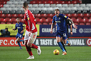 AFC Wimbledon midfielder Mitchell (Mitch) Pinnock (11)  during the EFL Sky Bet League 1 match between Charlton Athletic and AFC Wimbledon at The Valley, London, England on 15 December 2018.