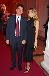 NICK BARHAM and KAREN CARWIN at a 'A Night in Cartier Paradise' to celebrate a new collection of jewellery by Cartier, held at The orangery, Kensington Palace, London W8 on 25th October 2005.<br /><br />NON EXCLUSIVE - WORLD RIGHTS