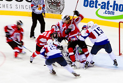 Ice-hockey match between Austria and Slovenia of Group G in Relegation Round of IIHF 2011 World Championship Slovakia, on May 7, 2011 in Orange Arena, Bratislava, Slovakia. Austria defeated Slovenia 3-2. (Photo By Vid Ponikvar / Sportida.com)