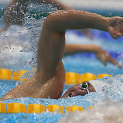 Peter Vanderkaay, USA, in action in the Men's 400m Freestyle heats during the swimming heats at the Aquatic Centre at Olympic Park, Stratford during the London 2012 Olympic games. London, UK. 28th July 2012. Photo Tim Clayton