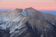 The last light of day can be seen behind the southern face of Mount Princeton, 14,197ft.