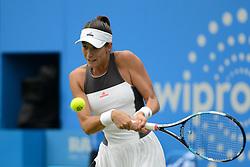 June 24, 2017 - Birmingham, England - GARBINE MUGURUZA of Spain in her semifinal match v. A. Barty in the Aegon Classic Birmingham tennis tournament. (Credit Image: © Christopher Levy via ZUMA Wire)
