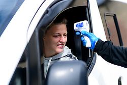 Yana Daniels of Bristol City has her temperature checked on arrival - Mandatory by-line: Ryan Hiscott/JMP - 06/09/2020 - FOOTBALL - Twerton Park - Bath, England - Bristol City Women v Everton Ladies - FA Women's Super League