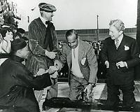 1936 Al Jolson's hand/footprint ceremony at Grauman's Chinese Theater