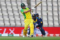 Cricket - 2019 ICC Cricket World Cup warm ups - Australia vs. Sri Lanka<br /> <br /> Pat Cummins of Australia hit the winning runs at the cricket world cup warm up match at the Hampshire Bowl Southampton England<br /> <br /> COLORSPORT/SHAUN BOGGUST