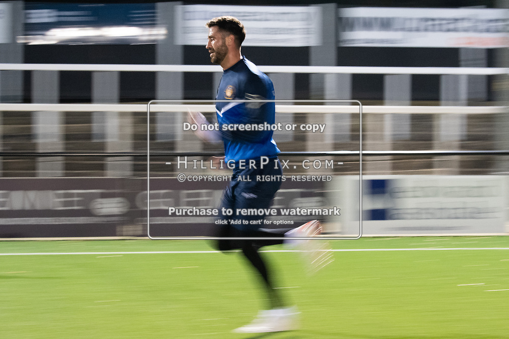 BROMLEY, UK - OCTOBER 30: Jay Leader, of Cray Wanderers FC, before the Kent Senior Cup match between Cray Wanderers and VCD Athletic at Hayes Lane on October 30, 2019 in Bromley, UK. <br /> (Photo: Jon Hilliger)