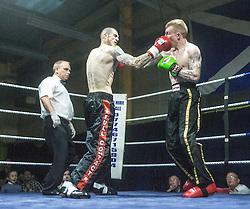 Alan Clark wins his fight at Wishaw.