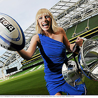 31 August 2010; Rugby presenter Maire Treasa Ni Dhubhghaill at the Launch of TG4 Autumn Schedule 2010. The Aviva Stadium, Lansdowne Road, Dublin. Picture credit: Paul Mohan / SPORTSFILEILE