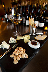 The three-cheese plate at Pour Wine Bar and Bistro, in the Montclair district of Oakland, Calif., Wednesday, Dec. 23, 2015. (Photo by D. Ross Cameron)