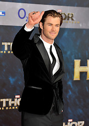 """Thor - The Dark Kingdom German Premiere.<br /> Chris Hemsworth during the German premiere of the new movie """"THOR - THE DARK KINGDOM"""" in Berlin, Germany on Sunday October 27nd, 2013. Picture by Schneider-Press / i-Images.<br /> UK & USA ONLY"""