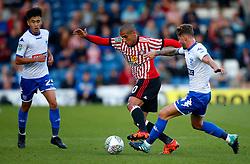 Wahbi Khazri of Sunderland takes on Andrew Tutte of Bury - Mandatory by-line: Matt McNulty/JMP - 10/08/2017 - FOOTBALL - Gigg Lane - Bury, England - Bury v Sunderland - Carabao Cup - First Round