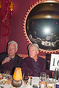 MICHAEL CRAIG-MARTIN; DOUGLAS BAXTER, Dinner to celebrate the opening of Pace London at  members club 6 Burlington Gdns. The dinner followed the Private View of the exhibition Rothko/Sugimoto: Dark Paintings and Seascapes.