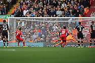 James Milner of Liverpool FC scores his teams 2nd goal from the penalty spot. Premier League match, Liverpool v Hull City at the Anfield stadium in Liverpool, Merseyside on Saturday 24th September 2016.<br /> pic by Chris Stading, Andrew Orchard sports photography.