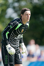 Annan Athletic's keeper Craig Summersgill..Annan Athletic 1v 2 Dunfermline, Scottish Communities League Cup 1st round, 30th July 2011..©Pic : Michael Schofield.