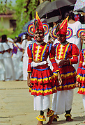 Traditional Sri Lankan dancers in Colombo, Sri Lanka