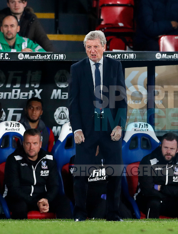 Crystal Palace's Roy Hodgson looks on during the Carabao cup match at Selhurst Park Stadium, London. Picture date 19th September 2017. Picture credit should read: David Klein/Sportimage