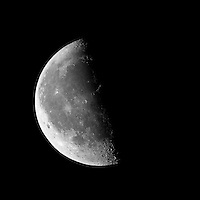 Last Quarter Moon, Late Fall in New Jersey. Image taken with a Nikon 1 V1 camera, FT1 adapter, and 500 mm f/4 VR lens (ISO 100, 500 mm, f/4, 1/500 sec).