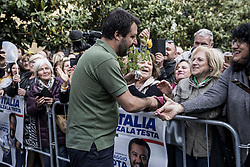 May 4, 2019 - Pisa, Italy - Matteo Salvini, Italian Interior Minister In San Giuliano Terme (Pisa), on May 4, 2019. (Credit Image: © Enrico Mattia Del Punta/NurPhoto via ZUMA Press)