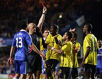 Fotball<br /> England<br /> Foto: Fotosports/Digitalsport<br /> NORWAY ONLY<br /> <br /> Chelsea vs Barcelona Champions League S-Final 2nd leg 06/05/09<br /> <br /> Eric Abidal is sent off.<br /> Tom Henning Øvrebø - dommer
