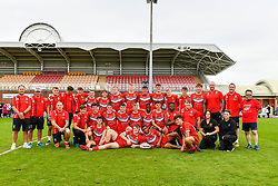 Wales U16 after todays game<br /> <br /> Photographer Craig Thomas/Replay Images<br /> <br /> Under 16 Rugby league International - Wales  v England  - Saturday 1st August 2018 - Stebonheath Park - Llanelli<br /> <br /> World Copyright © 2017 Replay Images. All rights reserved. info@replayimages.co.uk - www.replayimages.co.uk