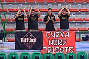 """Tifosi Curva Nord Alma Trieste<br /> Hertz Cagliari Dinamo Academy - Alma Trieste<br /> Torneo """"Città di Sassari - Mimì Anselmi"""" Finale 3° Posto<br /> Sassari, 29/09/2018<br /> Foto L.Canu / Ciamillo-Castoria"""