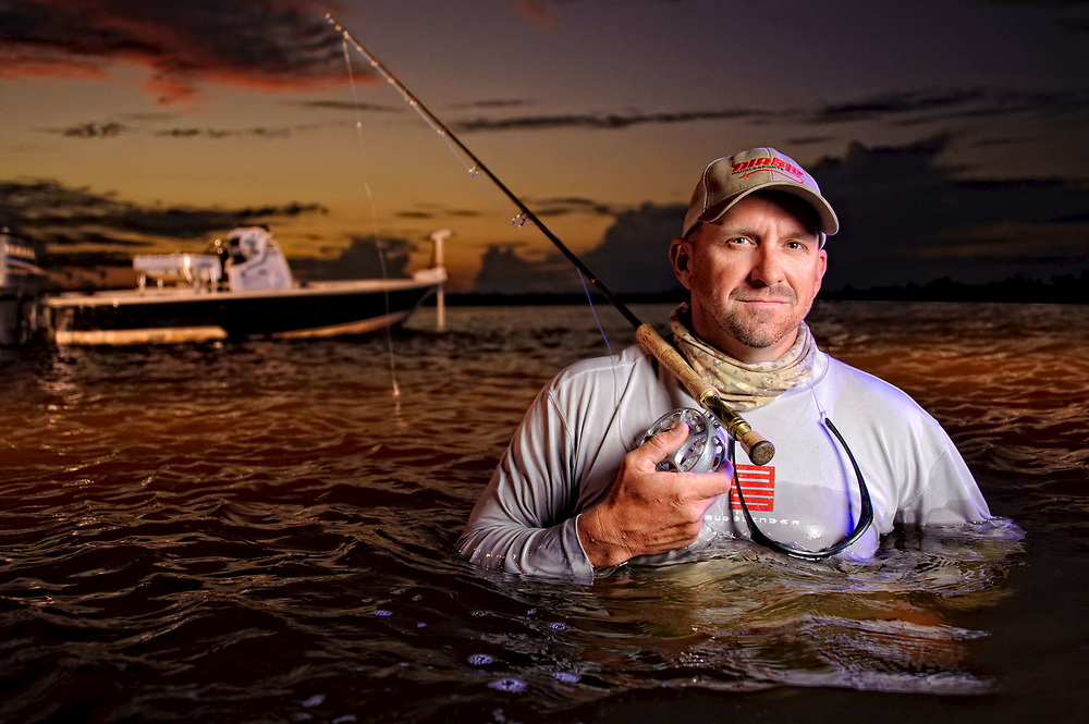 John Meskauskas photographed in the Indian River Lagoon