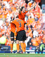 Football - Scottish FA Cup Final - Dundee United vs. Ross County<br /> <br /> Dundee United's double goal scorer  Craig Conway celebrates at the end of the  3-0 win over Ross County