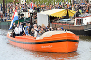 De koninklijke familie is in Zwolle voor de viering van Koningsdag. /// The royal family is in Zwolle for the celebration of King's Day.<br /> <br /> Op de foto / On the photo:  Boottocht
