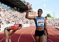 Friidrett ,  11. juni 2015 , Diamond League , Bislett Games , Oslo<br />  Atheltics<br /> <br /> Kalise Spencer , JAM<br /> Denisa Rosolova , CZE<br /> 400 m hurdles<br /> 400 m hekk