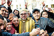 Koning Mohammed VI van Marokko  in amsterdam