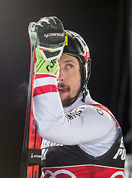 """Winner Marcel Hirscher (AUT) after the 2nd Run of FIS Alpine Ski World Cup 2017/18 Men's Slalom race named """"Snow Queen Trophy 2018"""", on January 4, 2018 in Course Crveni Spust at Sljeme hill, Zagreb, Croatia. Photo by Vid Ponikvar / Sportida"""