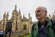 Mathematician and Risk guru, Professor David Spiegelhalter at the Centre for Mathematical Sciences outside Kings College, Cambridge. Sir David John Spiegelhalter (1953), OBE FRS, is a British statistician. In 2007 he was elected Winton Professor of the Public Understanding of Risk in the Statistical Laboratory, University of Cambridge and a Fellow of Churchill College, Cambridge. From the chapter entitled 'Possible Futures' and from the book 'Risk Wise: Nine Everyday Adventures' by Polly Morland (Allianz, The School of Life, Profile Books, 2015).