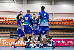 Team Lycurgus celebrates during the supercup final between Amysoft Lycurgus - Active Living Orion on October 04, 2020 in Van der Knaaphal, Ede