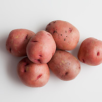 Red potatoes, grouping.