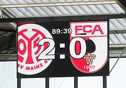 22.09.2012, Coface Arena, Mainz, GER, 1. FBL, 1. FSV Mainz 05 vs FC Augsburg, 4. Runde, im Bild 2:0 fuer Mainz an der Anzeigetafel // during the German Bundesliga 4th round match between 1. FSV Mainz 05 and FC Augsburg at the Coface Arena, Mainz, Germany on 2012/09/22. EXPA Pictures © 2012, PhotoCredit: EXPA/ Eibner/ Bildpressehaus..***** ATTENTION - OUT OF GER *****