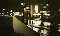 1940 Earl Carroll Theater at night
