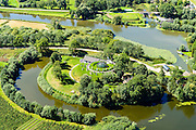 Nederland, Gelderland, Gemeente Lingewaal, 23-08-2016; Acquoy, Kunstfort Asperen en artillerieloods de Taveerne, ook Fort Asperen, onderdeel van de Nieuwe Hollandse Waterlinie.<br /> Fort Asperen and artillery shed the Tavern, part of the New Dutch Waterline. Also known as Art Fort.<br /> luchtfoto (toeslag op standard tarieven); aerial photo (additional fee required); copyright foto/photo Siebe Swart