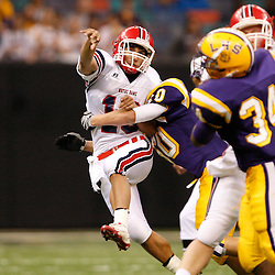 2008 December 12: During the Class 3A LHSAA State Championship game between Notre Dame and Lutcher at the Louisiana Superdome in New Orleans, LA (photo by Derick Hingle/Nola.com)