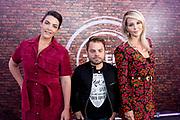 Persdag voor het RTL programma 'The Talent Project'.<br /> <br /> Op de foto:  Caro Emerald, Roel van Velzen en Chantal Janzen