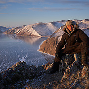 """The Tazheran steppe along the shore at Russia's Lake Baikal. Crowned the """"Jewel of Siberia"""", Baikal is the world's deepest lake, and the biggest lake by volume, holding 20% of the world's fresh water. In the winter, the lake 31,722 square meter surface is entirely frozen with ice averaging 2 meters thick."""