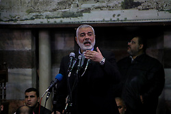 January 30, 2018 - Hundreds of Palestinians take part in the funeral of Imad al-Alami, a Hamas official who died today from injuries to his head. Al-Alami, a civil engineer,  died at the Shifa Hospital in Gaza where he had been treated in intensive care for head injuries sustained while inspecting his personal weapons three weeks ago. Several Hamas officials including Hamas' political bureau chief, Ismail Haniyeh, attended the funeral and the ceremony at the Great Mosque of Gaza (Credit Image: © Ahmad Hasaballah/ImagesLive via ZUMA Wire)