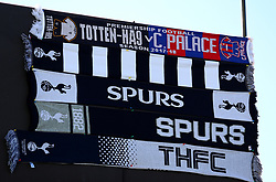 A general view of Tottenham Hotspur's scarves prior to the match