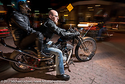 Riding Main Street during Daytona Beach Bike Week. FL. USA. Tuesday, March 14, 2017. Photography ©2017 Michael Lichter.
