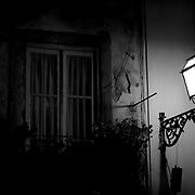 Street lamp in a street of Lisbon