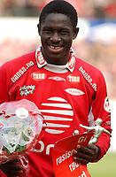 Seyi Olofinjana, Brann. Tippeligaen 2003: Brann - Vålerenga 3-1. 1. november 2003. (Foto: Peter Tubaas/Digitalsport)